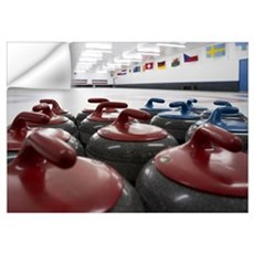 Curling Club Stones Wall Decal