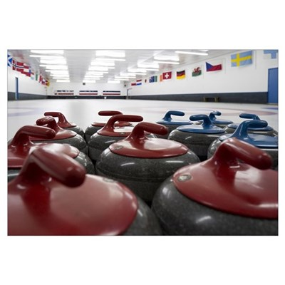 Curling Club Stones Canvas Art