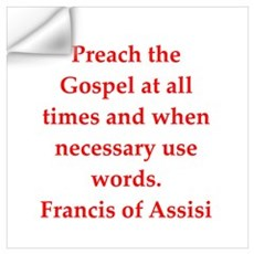Saint Francis of Assisi Wall Decal