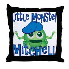 Little Monster Mitchell Throw Pillow