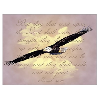 Isaiah 40:31, Wings as Eagles Canvas Art