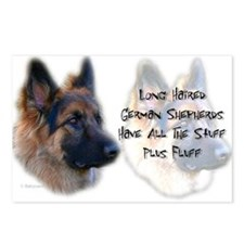 Long Haired GSD Postcards (Package of 8)