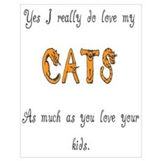 I really do love my cats Poster