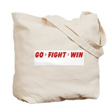 Red Go WIN Ribbon Tote Bag