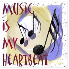 Music is My Heartbeat Canvas Art