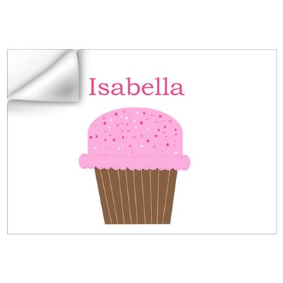 Isabella - Hot Pink Cupcake Wall Decal