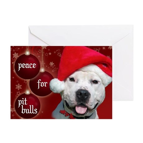 Peace for Pit Bulls Greeting Cards (Pk of 10)