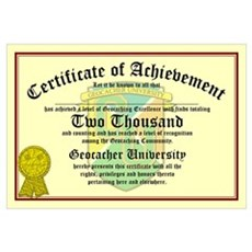 Certificate of Achievement - 2000 - PERSONALIZABLE Framed Print