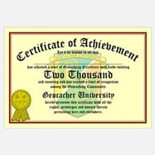 Certificate of Achievement - 2000 - PERSONALIZABLE