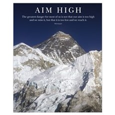 Aim High Mt Everest Framed Print
