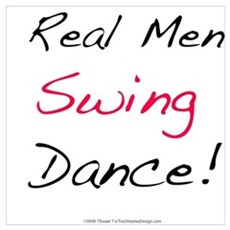 Real Men Swing Dance Poster