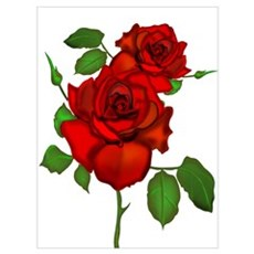 Rose Red Canvas Art