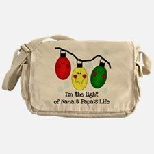 Light of Nana and Papa's Life Messenger Bag