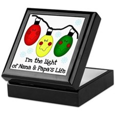 Light of Nana and Papa's Life Keepsake Box