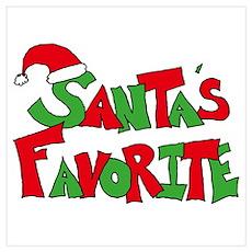 Santa's Favorite Poster