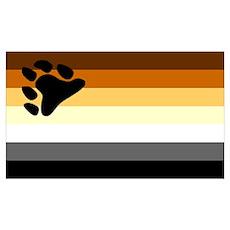 Bear Paw Flag Poster