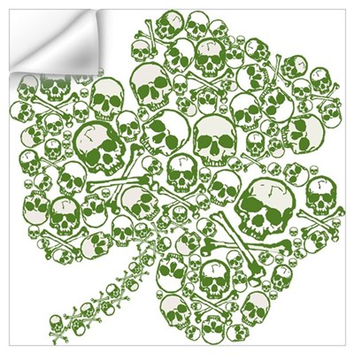 Goth Skulls Shamrock Wall Decal