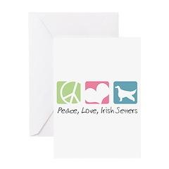 Peace, Love, Irish Setters Greeting Card