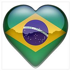 Brazil Heart Poster