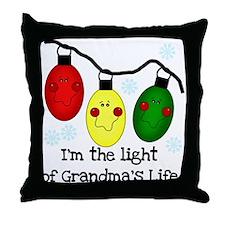Light of Grandma's Life Throw Pillow