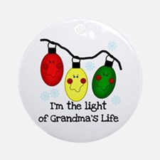 Light of Grandma's Life Ornament (Round)