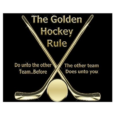 Golden Hockey Rule Poster