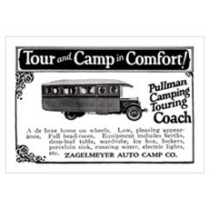 1920's CAMPER 11X17 Canvas Art