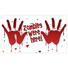 ZOMBIES were here! Canvas Art