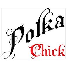 Polka Chick Poster