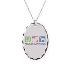 Peace, Love, Wolfhounds Necklace