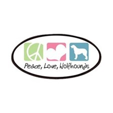 Peace, Love, Wolfhounds Patches