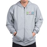 Peace, Love, Wolfhounds Zip Hoodie