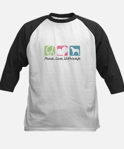 Peace, Love, Wolfhounds Kids Baseball Jersey