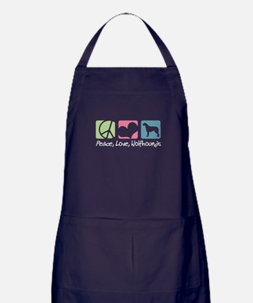 Peace, Love, Wolfhounds Apron (dark)