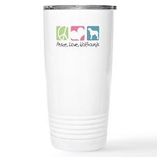 Peace, Love, Wolfhounds Travel Mug