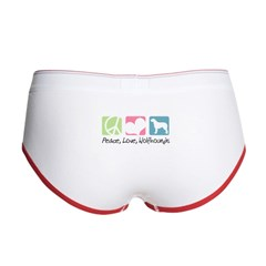 Peace, Love, Wolfhounds Women's Boy Brief