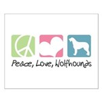 Peace, Love, Wolfhounds Small Poster