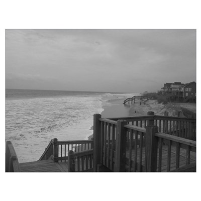 Beautiful Black and White Beach Poster