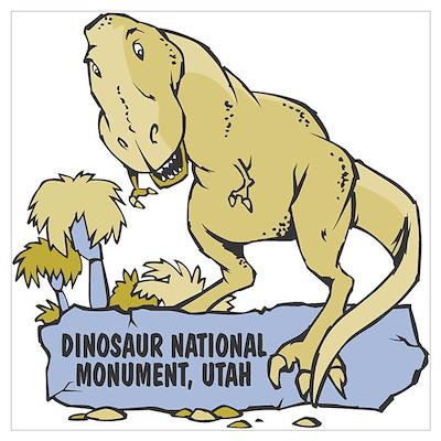 Dino Monument Poster