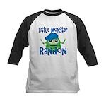 Little Monster Randon Kids Baseball Jersey