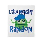 Little Monster Randon Throw Blanket
