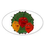 Tres Habaneras Sticker (Oval)
