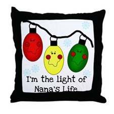 Light of Nana's Life Throw Pillow