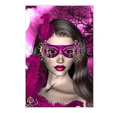Moonlight Masquerade Pink - Sapphire Postcards (Pa