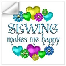 Sewing Happiness Wall Decal
