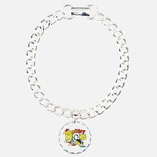 Agility Border Collie Charm Bracelet, One Charm