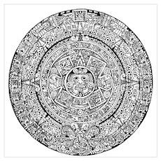 Aztec Sun Calendar Poster