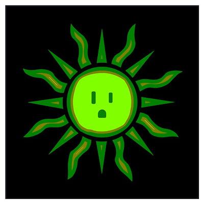 Solar Energy Tribal Sun Poster