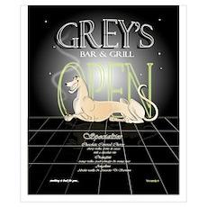 Greyhound Bar C (small) Poster