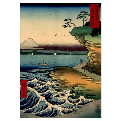 Japanese Ukiyo-e Mt. Fuji Poster